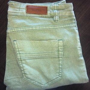 H&M Stretch Jeans Size 6 Vintage Green
